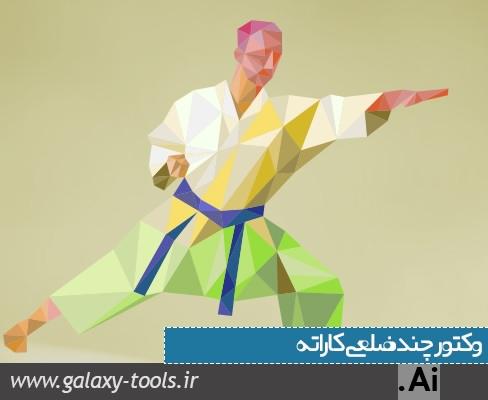 دانلود وکتور چند ضلعی کاراته کا